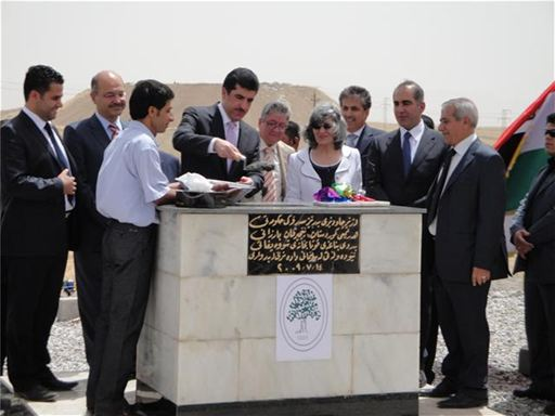 The first stone laying ceremony
